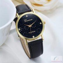 Geneva Beauty Flower Arany Színű Női Óra - Fekete
