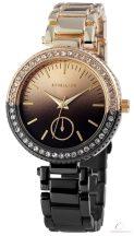 Excellanc bicolor női köves óra - fekete-arany