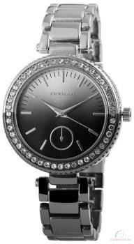 Excellanc bicolor női köves óra - fekete-ezüst