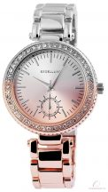 Excellanc bicolor női köves óra - rose gold-ezüst