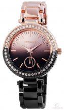 Excellanc bicolor női köves óra - rose gold-fekete