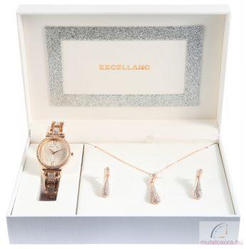 Excellanc női karóra ajándék szett - Rosegold