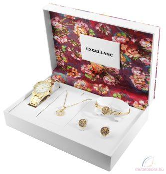 Excellanc női karóra ajándék szett - Arany
