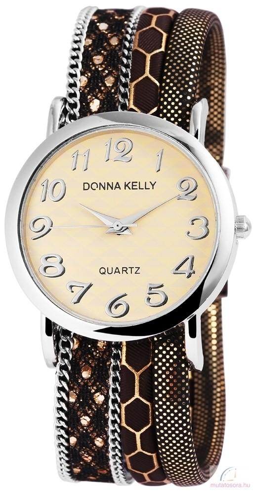 Donna Kelly többsoros női karóra - barna - Akciós f8e8099c74