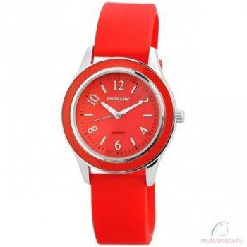 Excellanc Jessica szilikon női óra piros