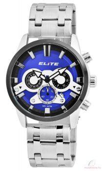 Elite 04 férfi karóra fém szíjjal - Ezüst kék