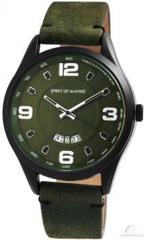 Spirit of Marine műbőrszíjas férfi karóra - Zöld