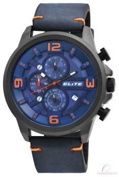 Elite 02 férfi karóra műbőr szíjjal - Kék