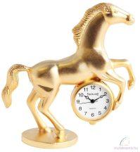 Tavolino miniatűr lovas asztali óra - arany