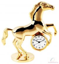 Tavolino miniatűr lovas asztali óra - fénylő arany