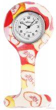 Adrina nővér óra szilikon - Szív mintákkal