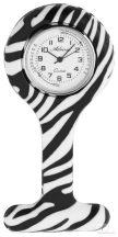 Adrina nővér óra szilikon - Zebra mintával