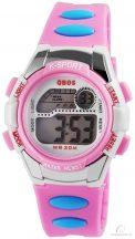 Qbos digitális gyerekóra - rózsaszín
