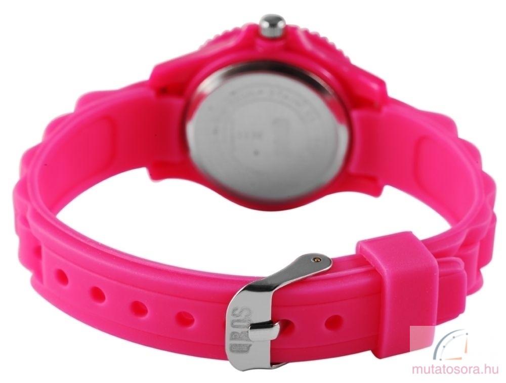 Qbos szilikon szíjas gyermekóra - pink - Akciós 81bc362989