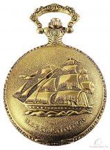 Tavolino arany színű zsebóra hajós díszítéssel