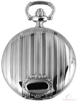 Excellanc ezüst színű zsebóra csíkos díszítéssel