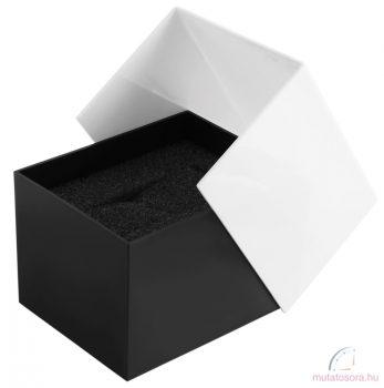 Műanyag fekete-fehér karóra doboz