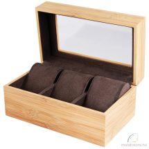 Fából készült 3 részes óradoboz
