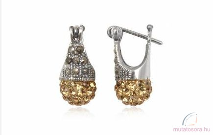 Sárga kristály fülbevaló - ANW2901