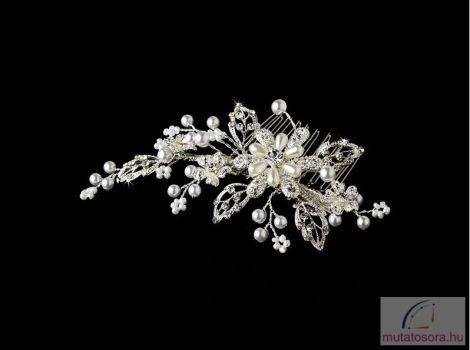 Különleges és elegáns esküvői hajdísz  swarovski kristályokkal és gyöngyökkel díszítve