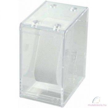 Műanyag átlátszó egyedi óradoboz
