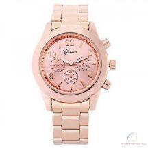 Geneva Chrono Style Rose Gold Színű Női óra