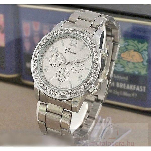 Geneva Köves Chrono Style Ezüst Színű Női karóra - Akciós 35577b9457