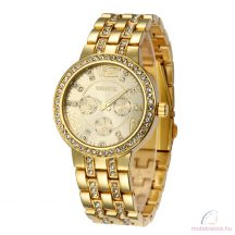Geneva Gorgeous Arany Színű Köves Női karóra