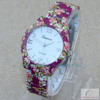 Geneva Flower Style plastic Női Karóra