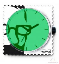GREEN GLASSES STAMPS óralap