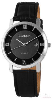 Classix fekete bőrszíjas férfi karóra - több szín