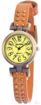 Alain Miller szegecselt női karkötő óra - világosbarna