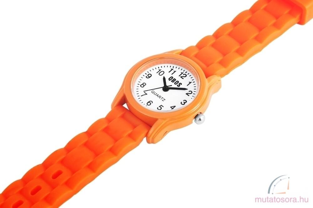 Qbos szilikon szíjas gyermekóra - narancssárga - Akciós 9a10f70fa8
