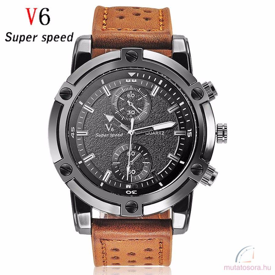 V6 Super Speed férfi karóra több szín - Akciós f67e5554f1