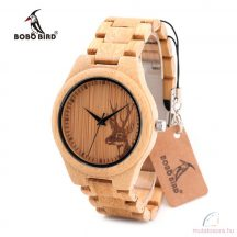 Bobo Bird B-E04 szarvas mintás fa óra