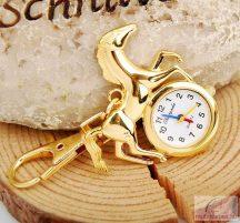 Chaoyada lovas kulcstartó óra - arany