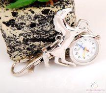 Chaoyada lovas kulcstartó óra - ezüst
