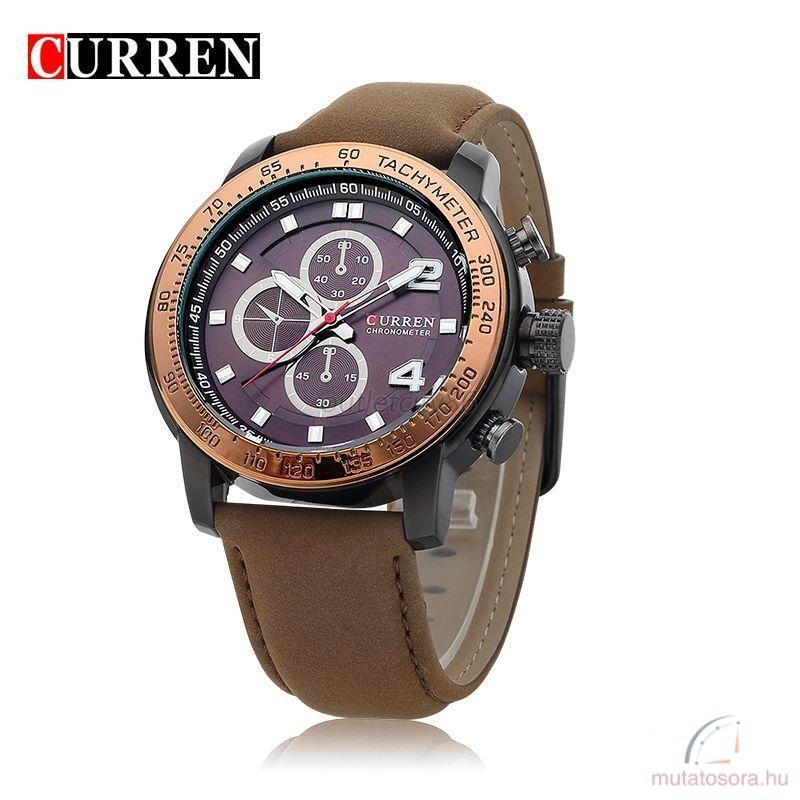 Curren divatos luxus alkalmi bőrszíjas férfi karóra - Akciós 11e9752d76
