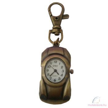 DBS bronz kulcstartó óra - autó