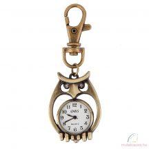 DBS bronz kulcstartó óra - bagoly