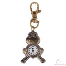 DBS bronz kulcstartó óra - béka