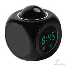 Kivetítős digitális ébresztőóra hőmérővel