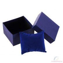 Kék Díszpárnás Óradoboz