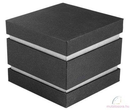 Kocka alakú fekete óradoboz