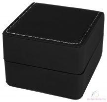 Exlusive kocka alakú fekete bőr óradoboz