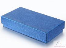 Csillogó kék papír óradoboz