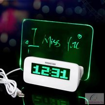 Fluoreszkáló digitális üzenőfalas ébresztőóra
