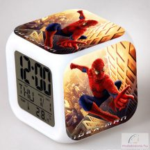 Automata színváltós pókemberes ébresztőóra
