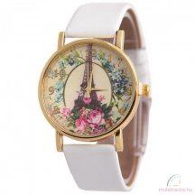 Eiffel and Roses Arany Színű Női Karóra Fehér