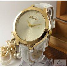 Geneva Lena Arany Színű Női karóra - Fehér